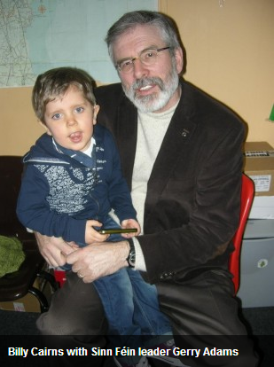 Billy Cairns and Gerry Adams