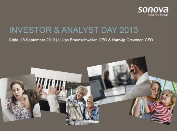 Sonova Investor day 2013 cover