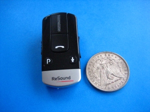 Phone Clip + with US Dollar Coin for Size Comparison