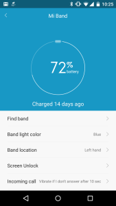 Mi band battery life