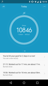 Xiaomi step counter